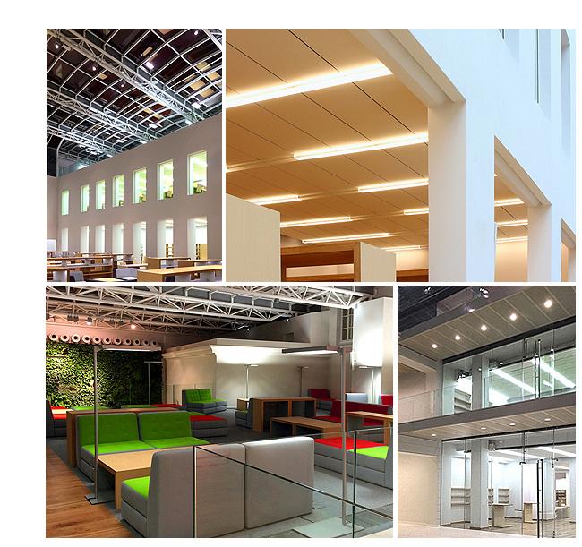 Oświetlenie Biblioteki na Koszykowej wykonała firma Euro-Light Sp. z o.o.